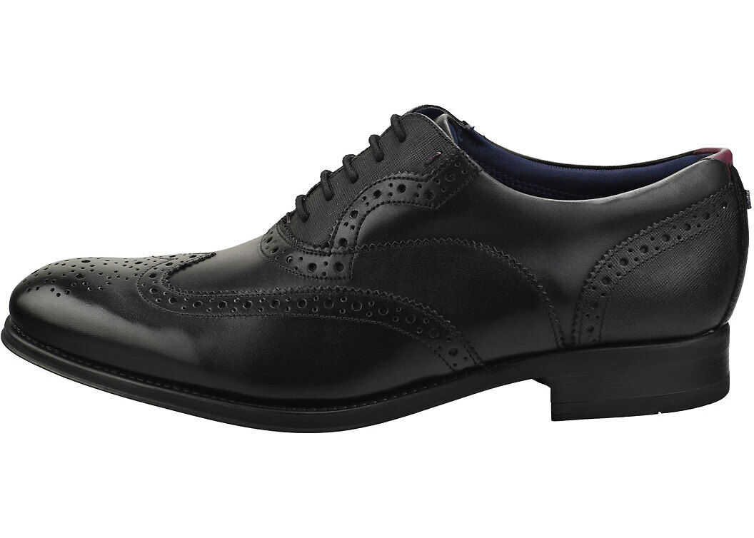 Ted Baker Mittal Brogue Shoes In Black Black