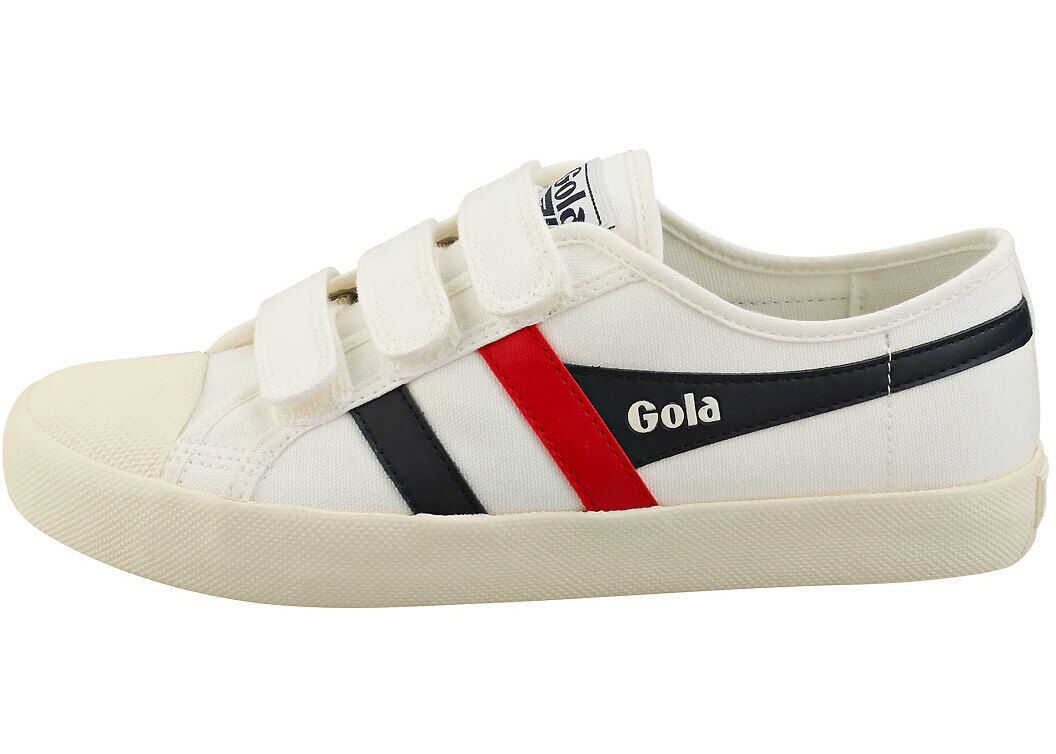 Gola Coaster Casual Trainers In White Navy Red White