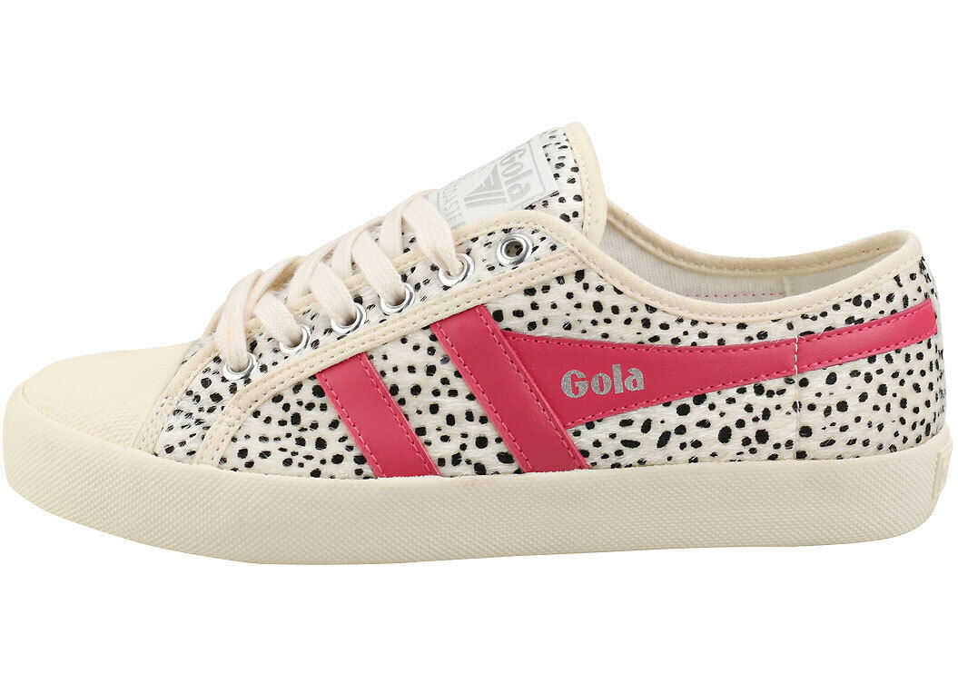 Gola Coaster Cheetah Fashion Trainers In Off White White