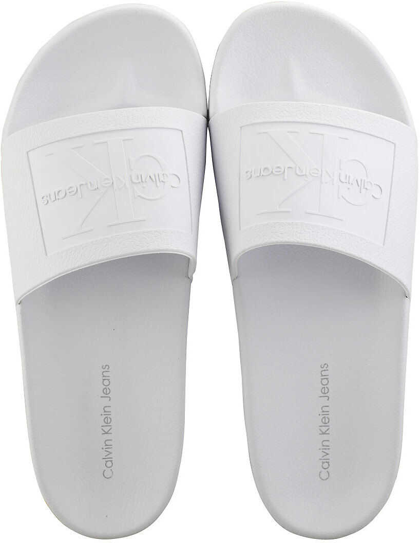 Calvin Klein Vincenzo Jelly Slide Sandals In White White