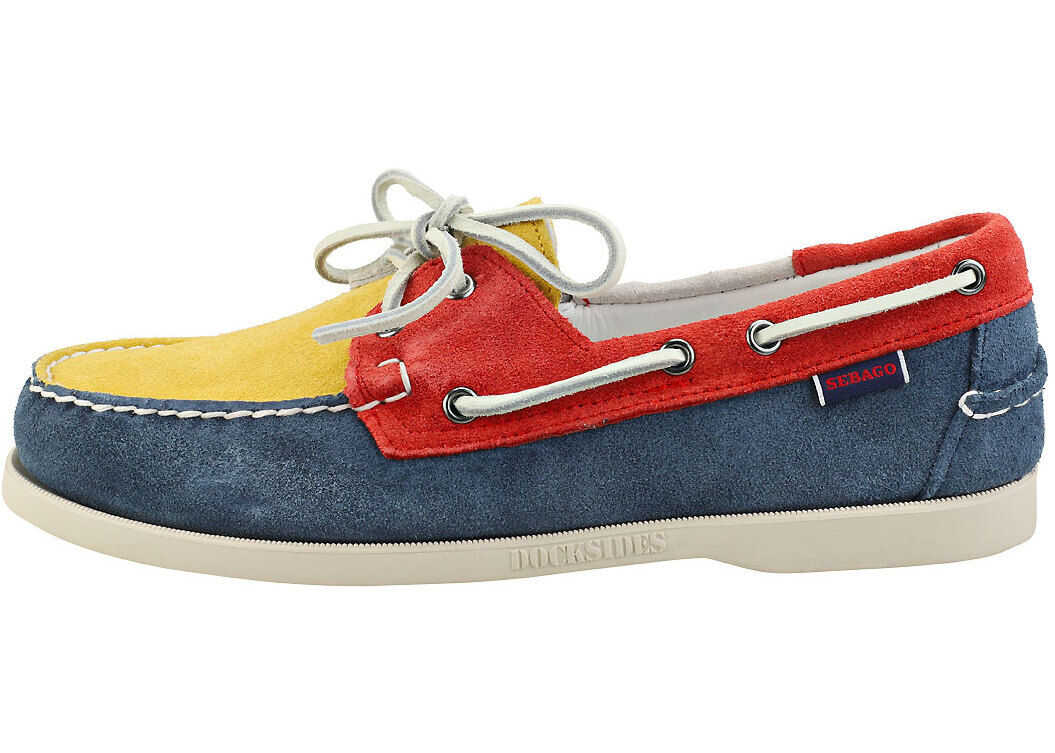 Portland Boat Shoes In Blue Multicolour thumbnail