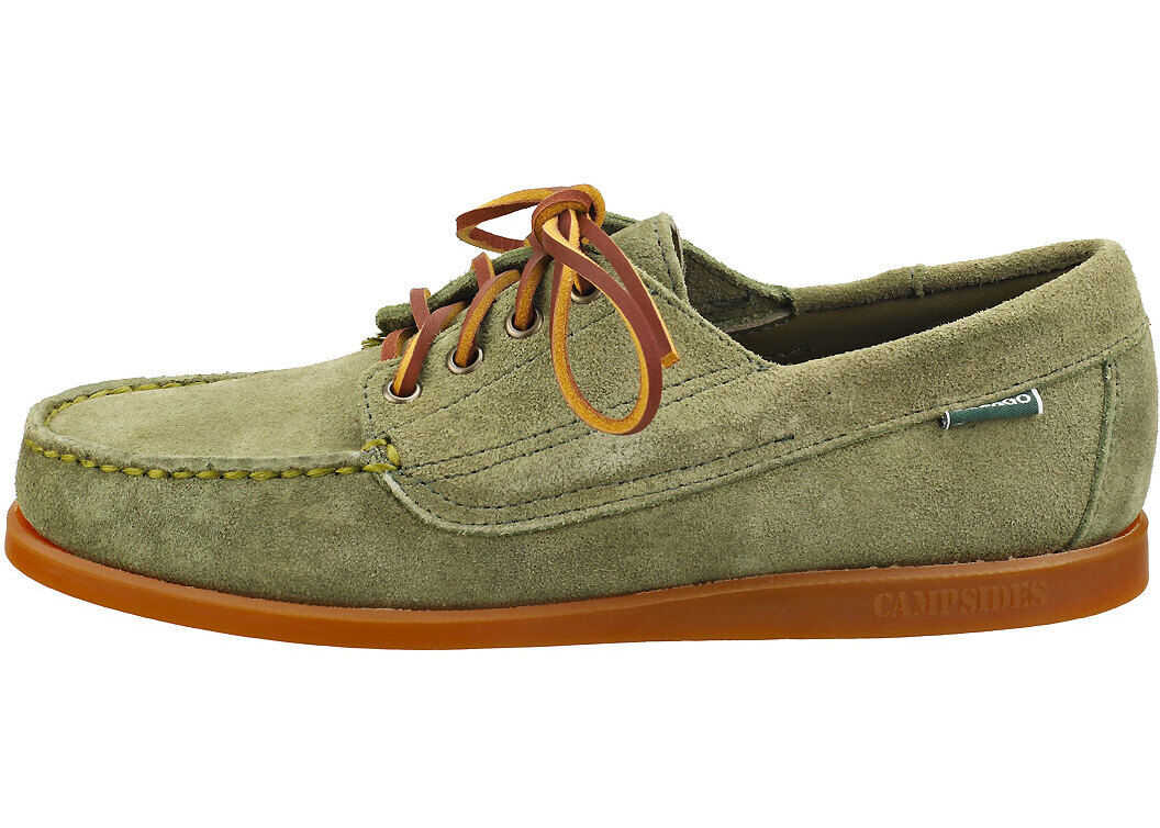 Askook Boat Shoes In Olive thumbnail