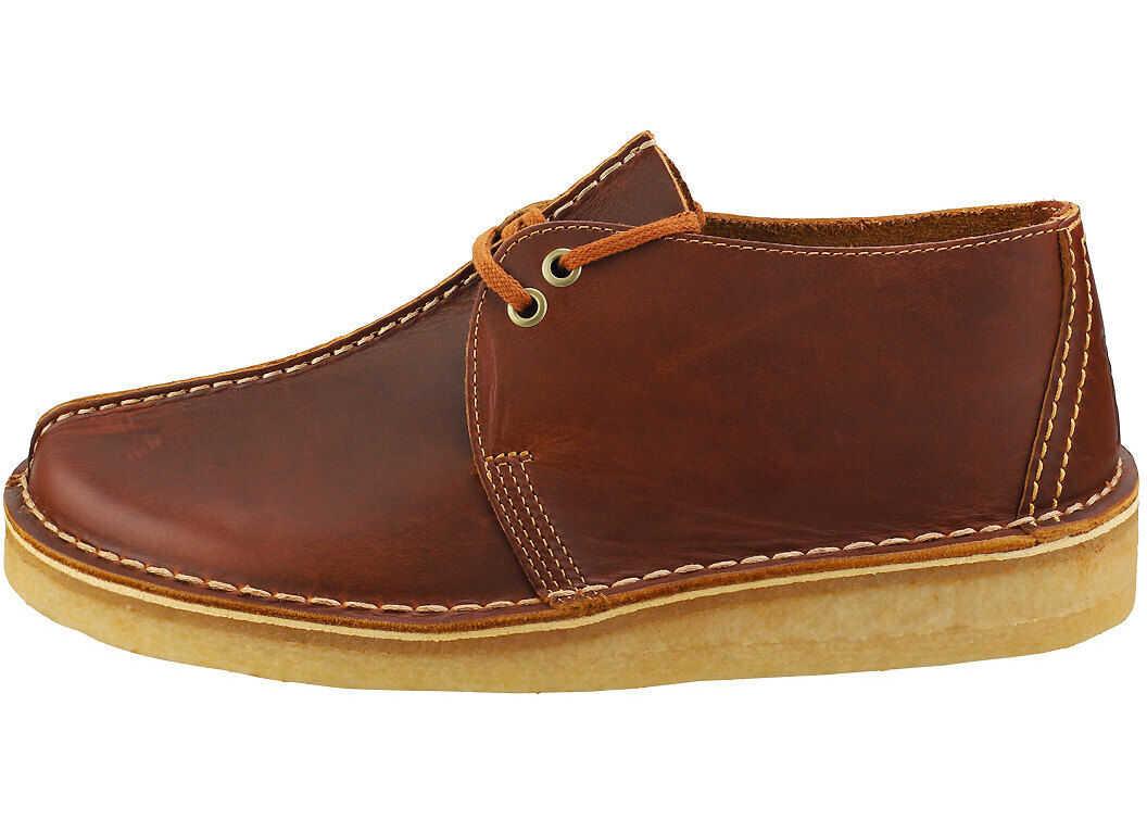 Clarks Desert Trek Casual Shoes In Tan Tan