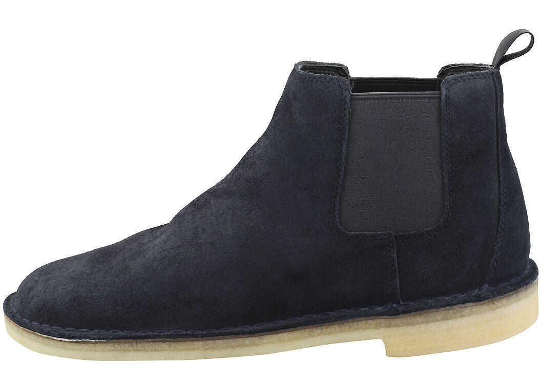 Clarks Desert Chelsea Chelsea Boots In Navy Blue