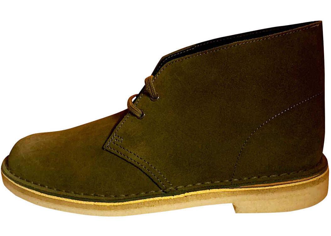 Clarks Desert Boot Desert Boots In Dark Olive Green