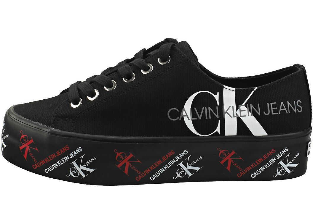 Calvin Klein Zamira Platform Trainers In Black Black