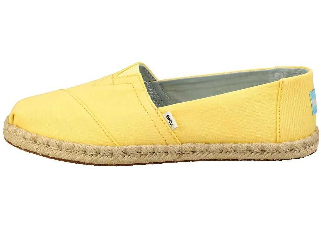 TOMS Classic Plant Espadrille Shoes In Yellow Yellow