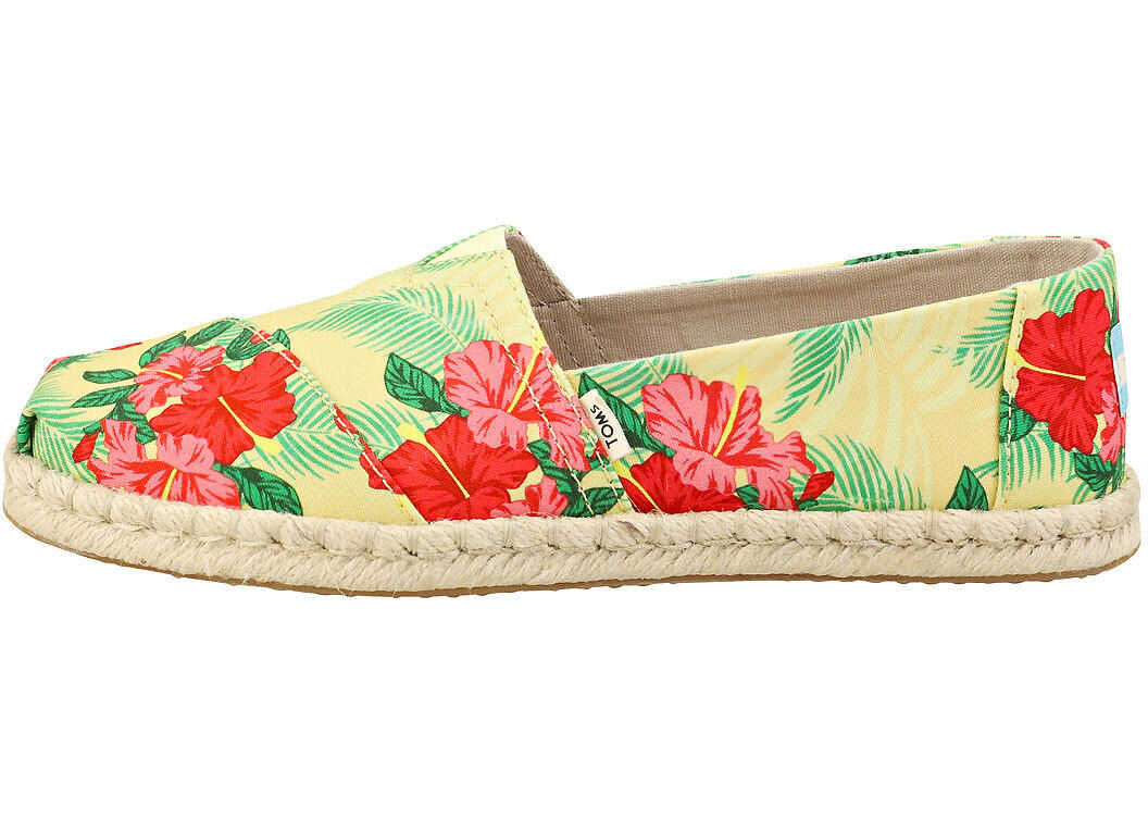 TOMS Classic Rope Espadrille Shoes In Yellow Multicolour Yellow