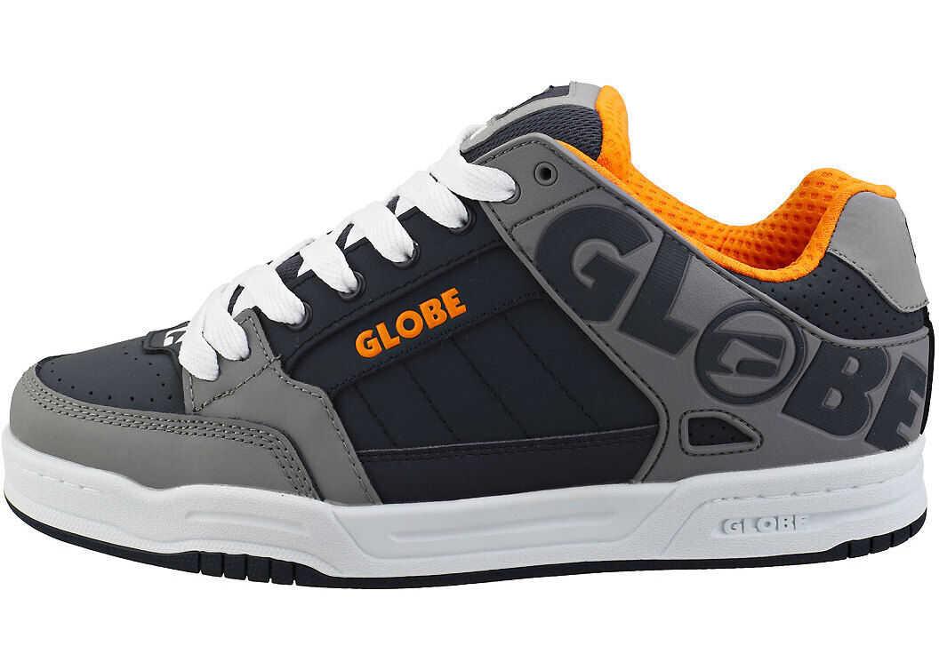 Globe Tilt Skate Trainers In Grey Navy Orange Grey