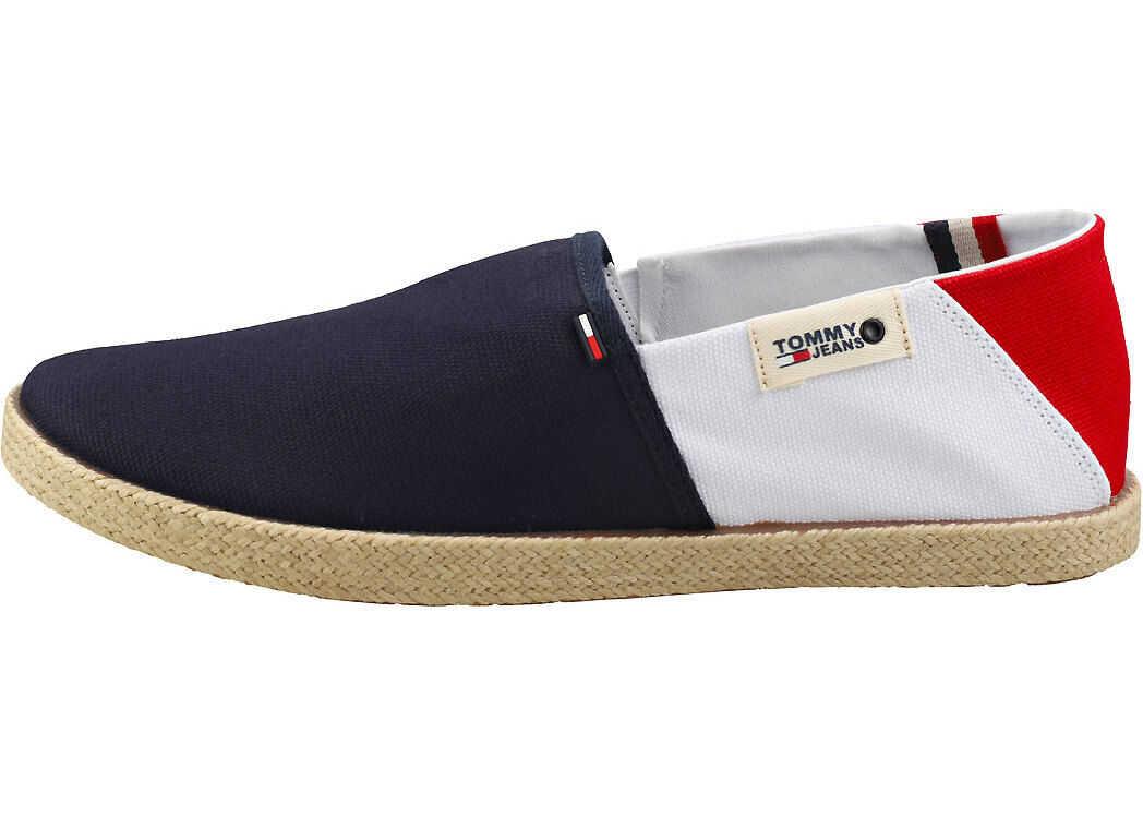 Tommy Jeans Summer Shoes Slip On Shoes In Navy White Red Blue
