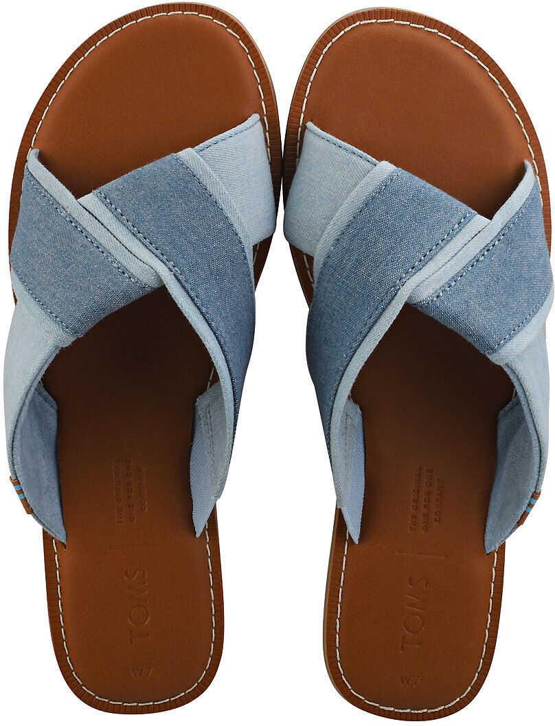 TOMS Viviana Flip Flop Sandals In Navy Blue