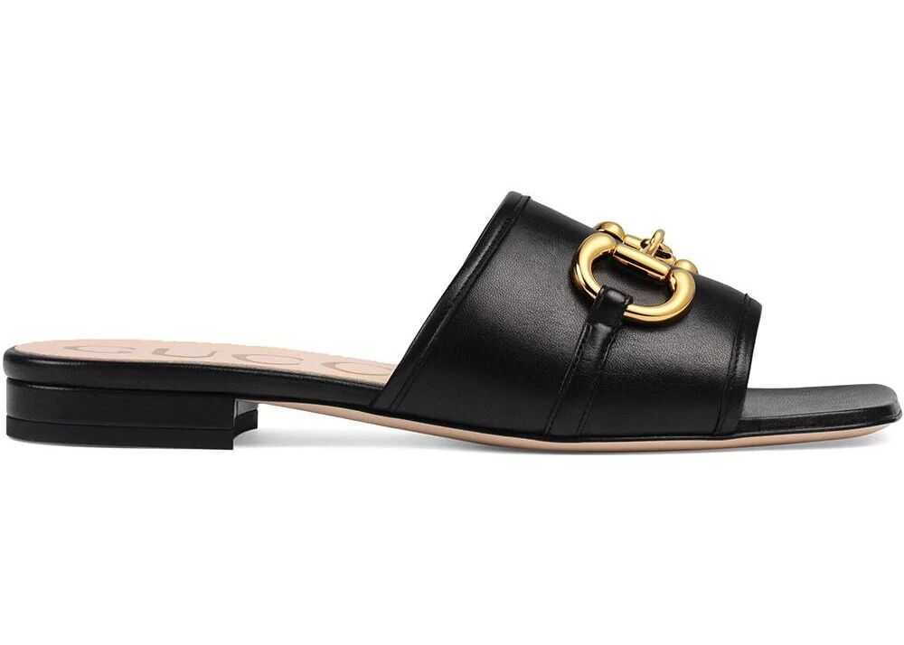 Gucci Leather Sandals BLACK