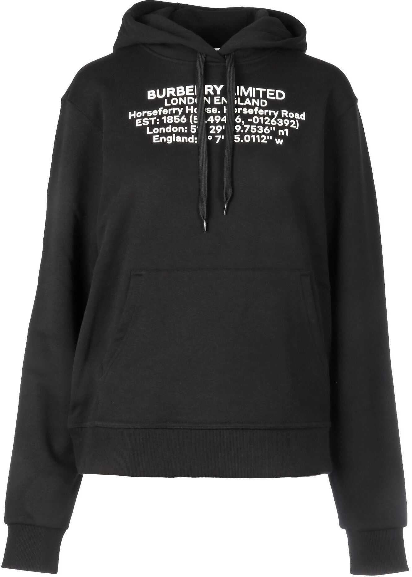 Burberry Cotton Sweatshirt BLACK