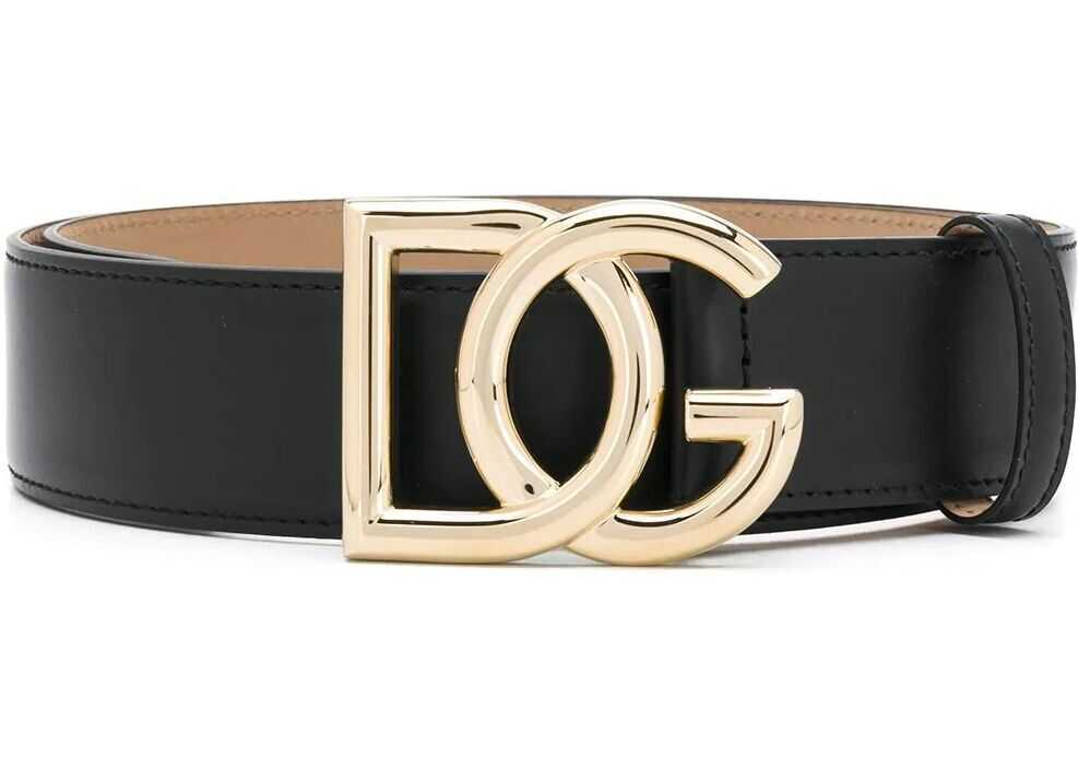 Dolce & Gabbana Leather Belt BLACK