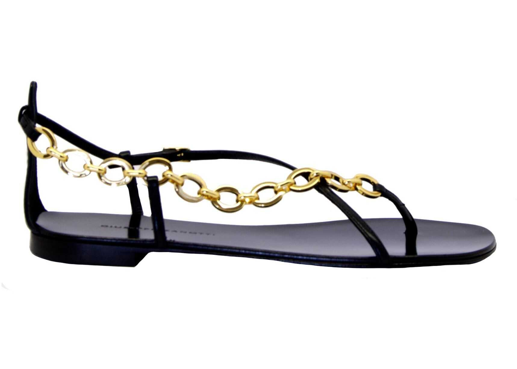 Giuseppe Zanotti Leather Sandals BLACK