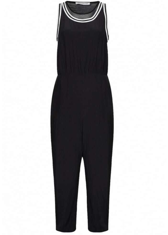 Calvin Klein Jeans Viscose Jumpsuit BLACK