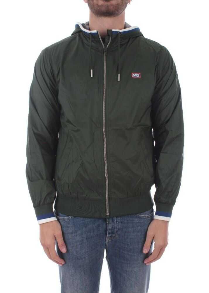 SUN 68 Polyamide Outerwear Jacket GREEN