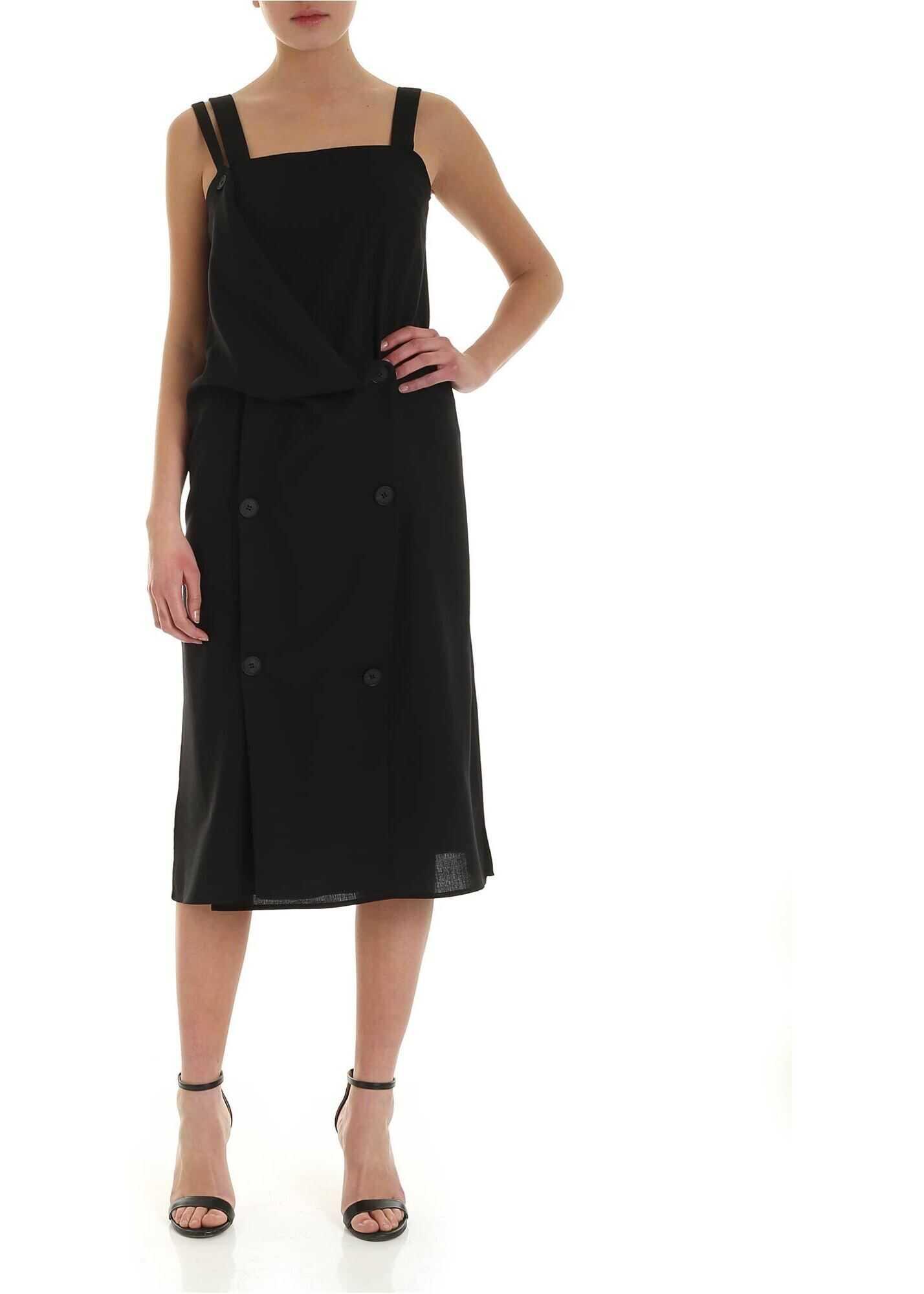 MCQ Alexander McQueen Kotomi Dress In Black Black