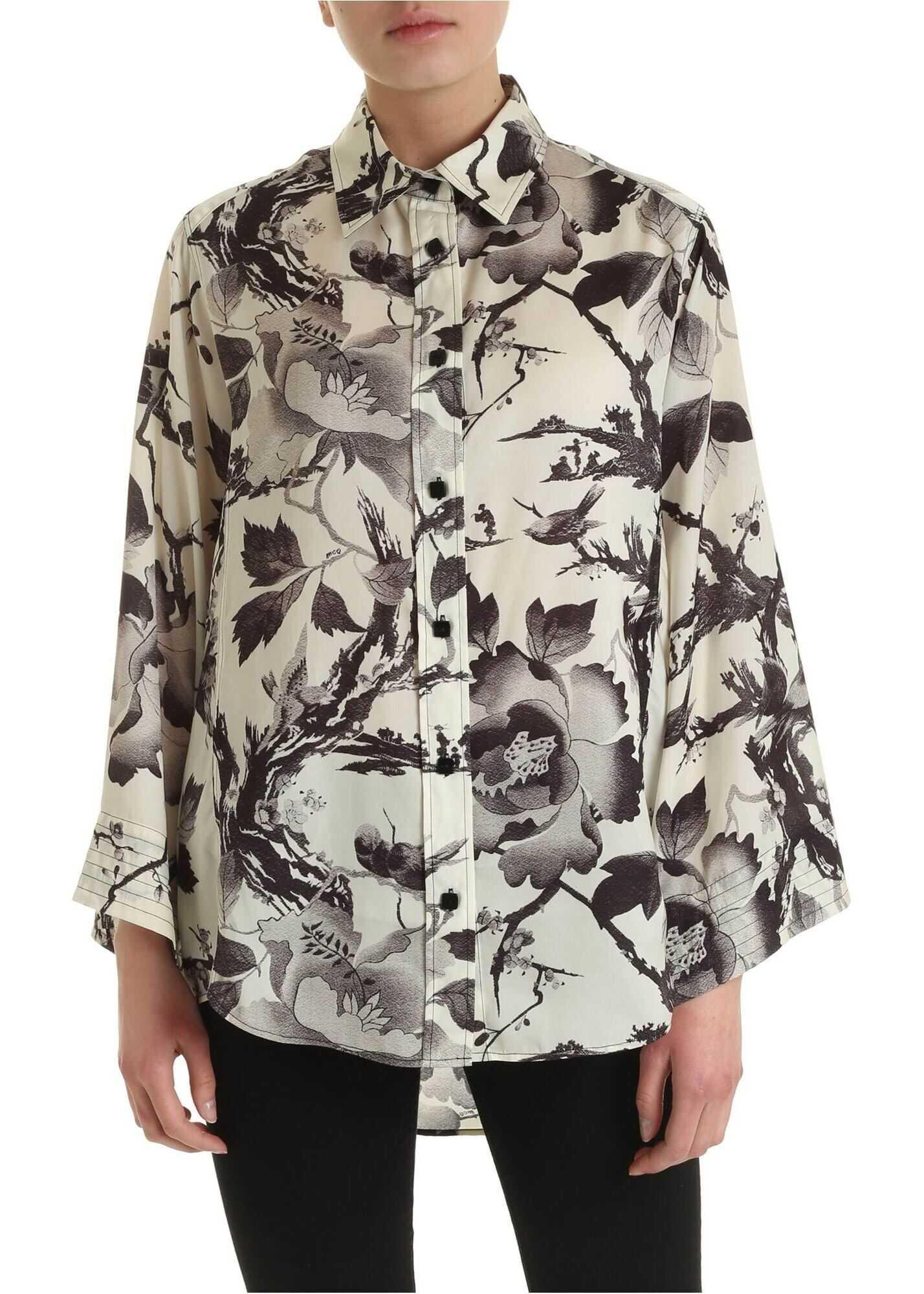 MCQ Alexander McQueen Yaemi Shirt In Cream Color Cream