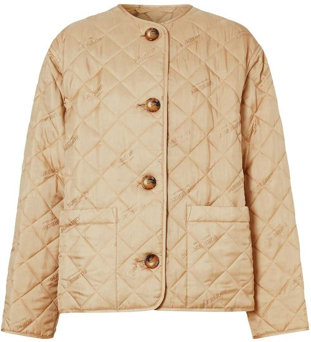 Burberry Polyester Outerwear Jacket BEIGE