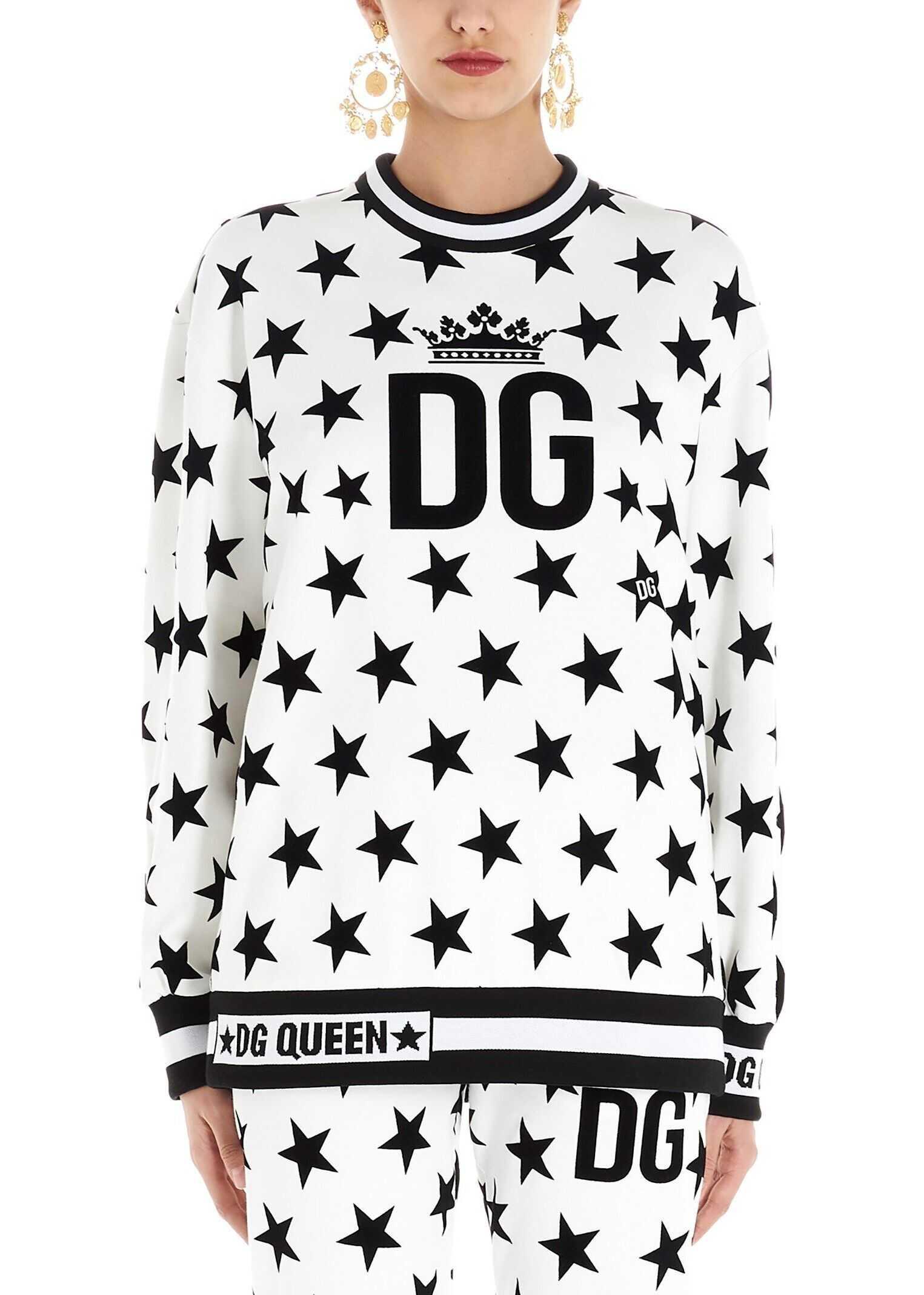 Dolce & Gabbana Cotton Sweatshirt WHITE