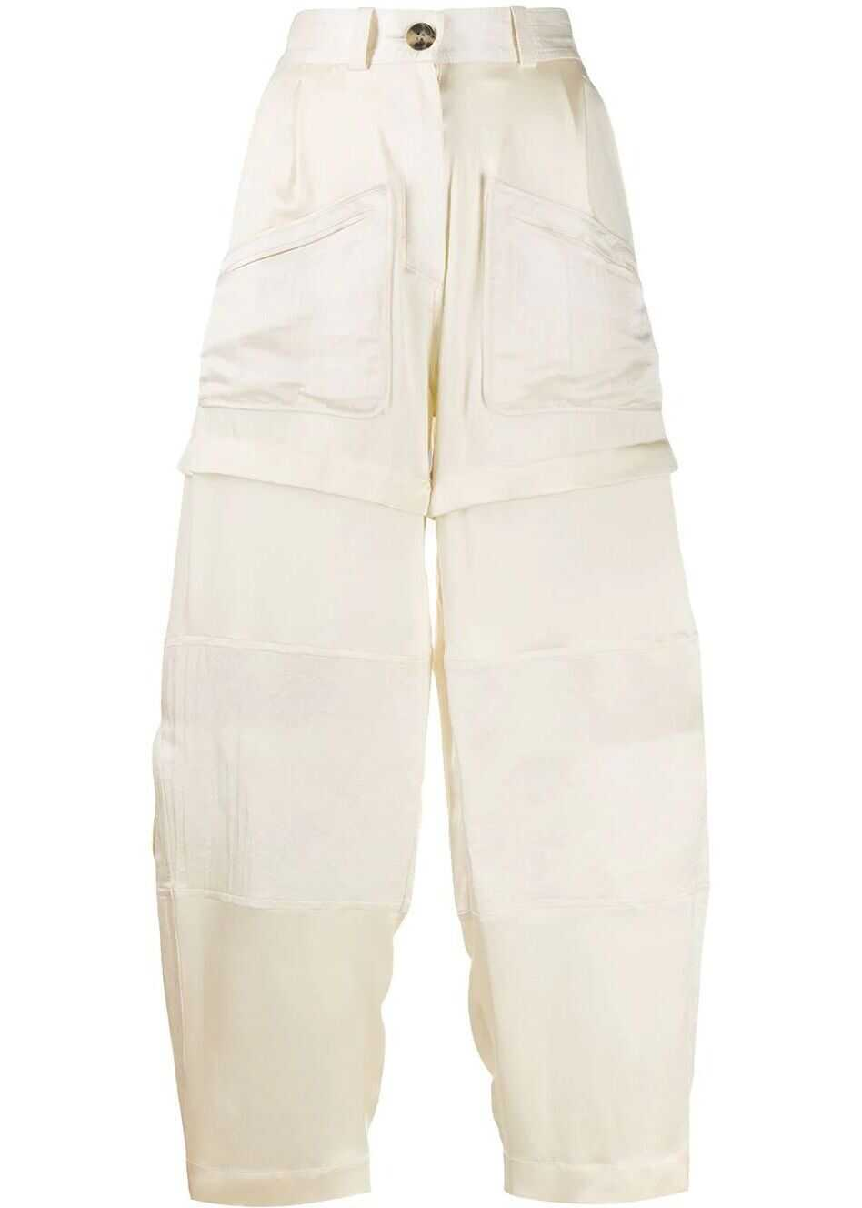 Lanvin Silk Pants BEIGE