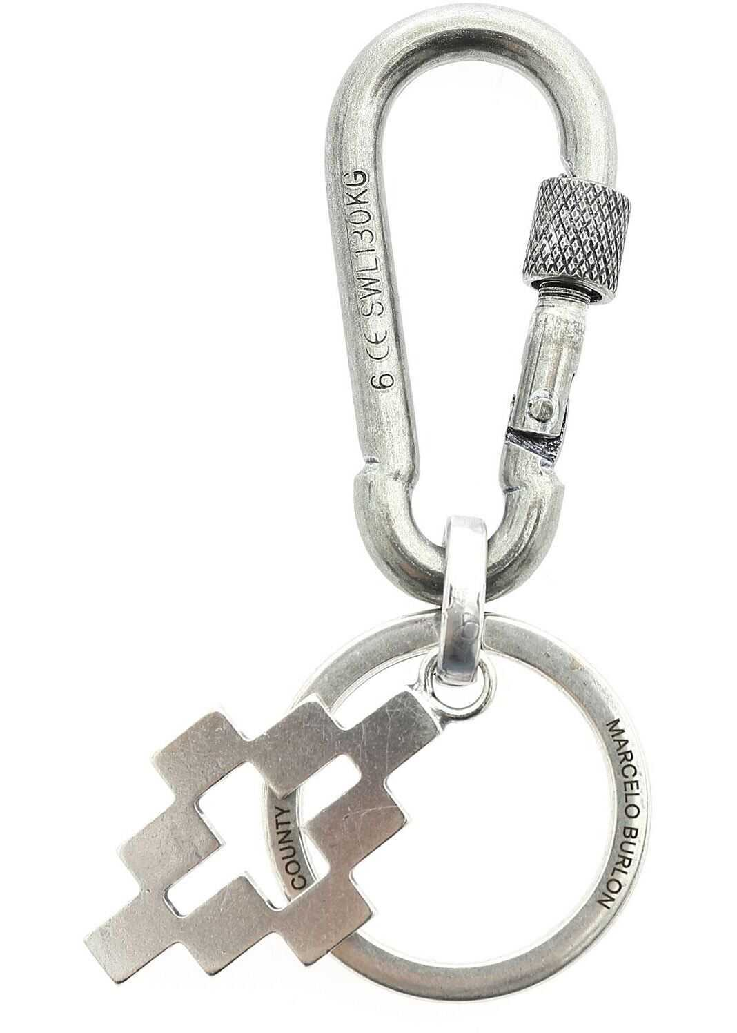 Cross Snap Keyring In Silver Color thumbnail