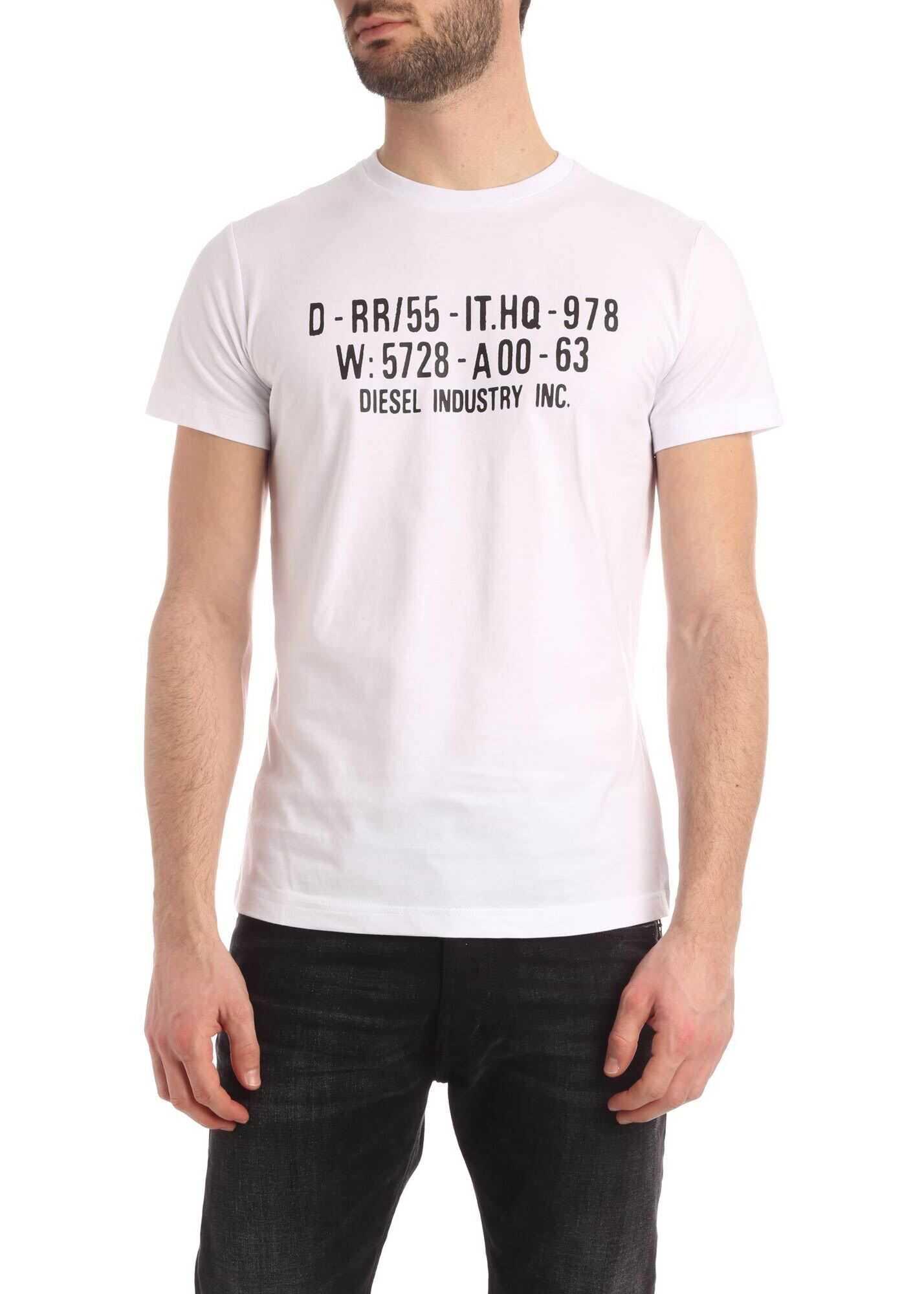 Diesel Diego T-Shirt In White White
