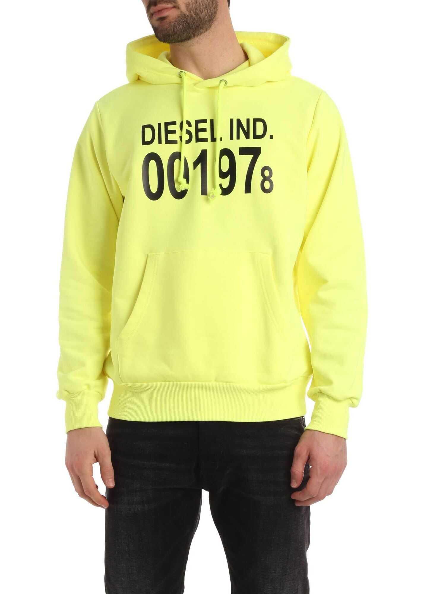 Diesel Girk Sweatshirt In Neon Yellow Yellow