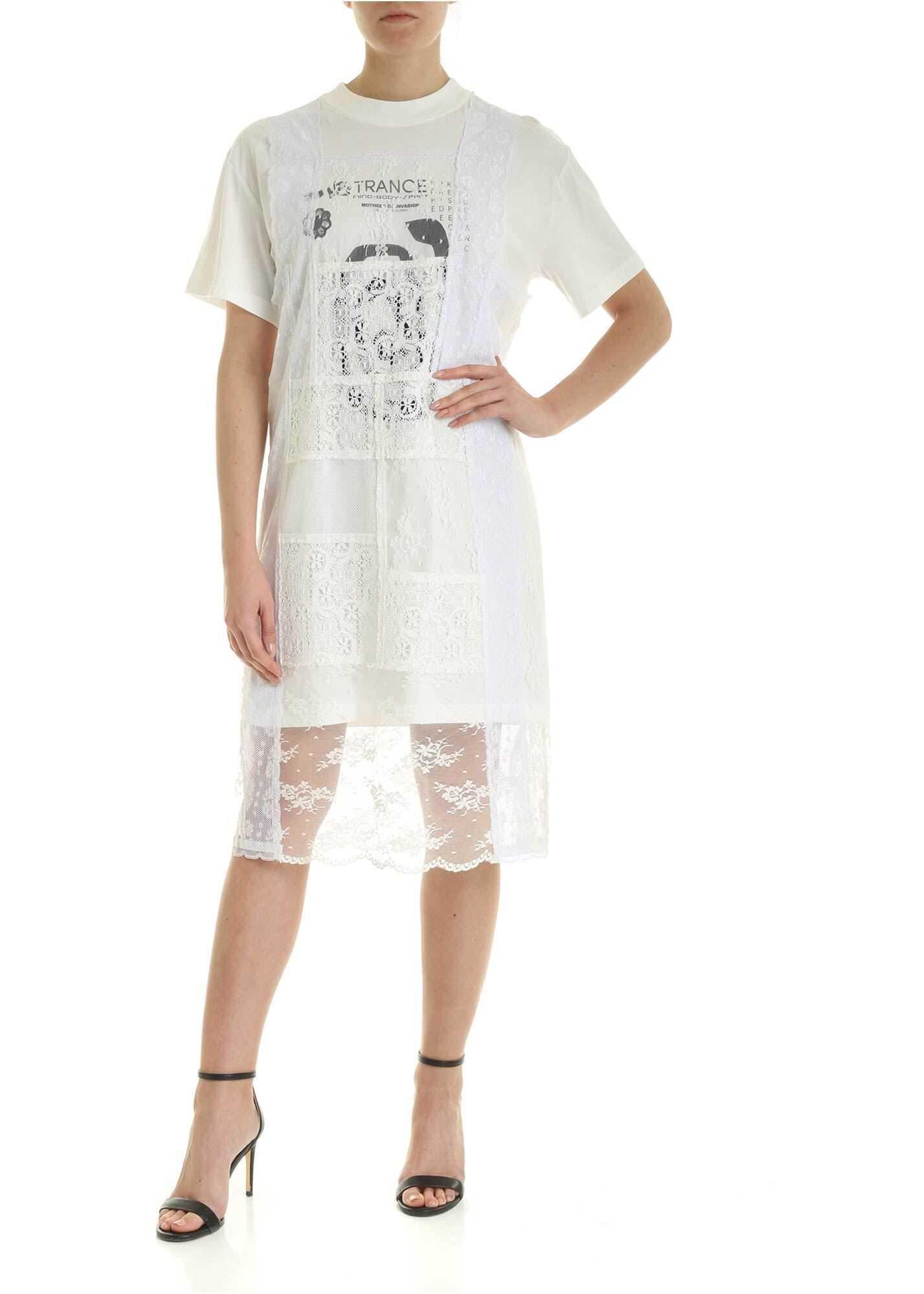 MCQ Alexander McQueen Satsuki Dress In White White