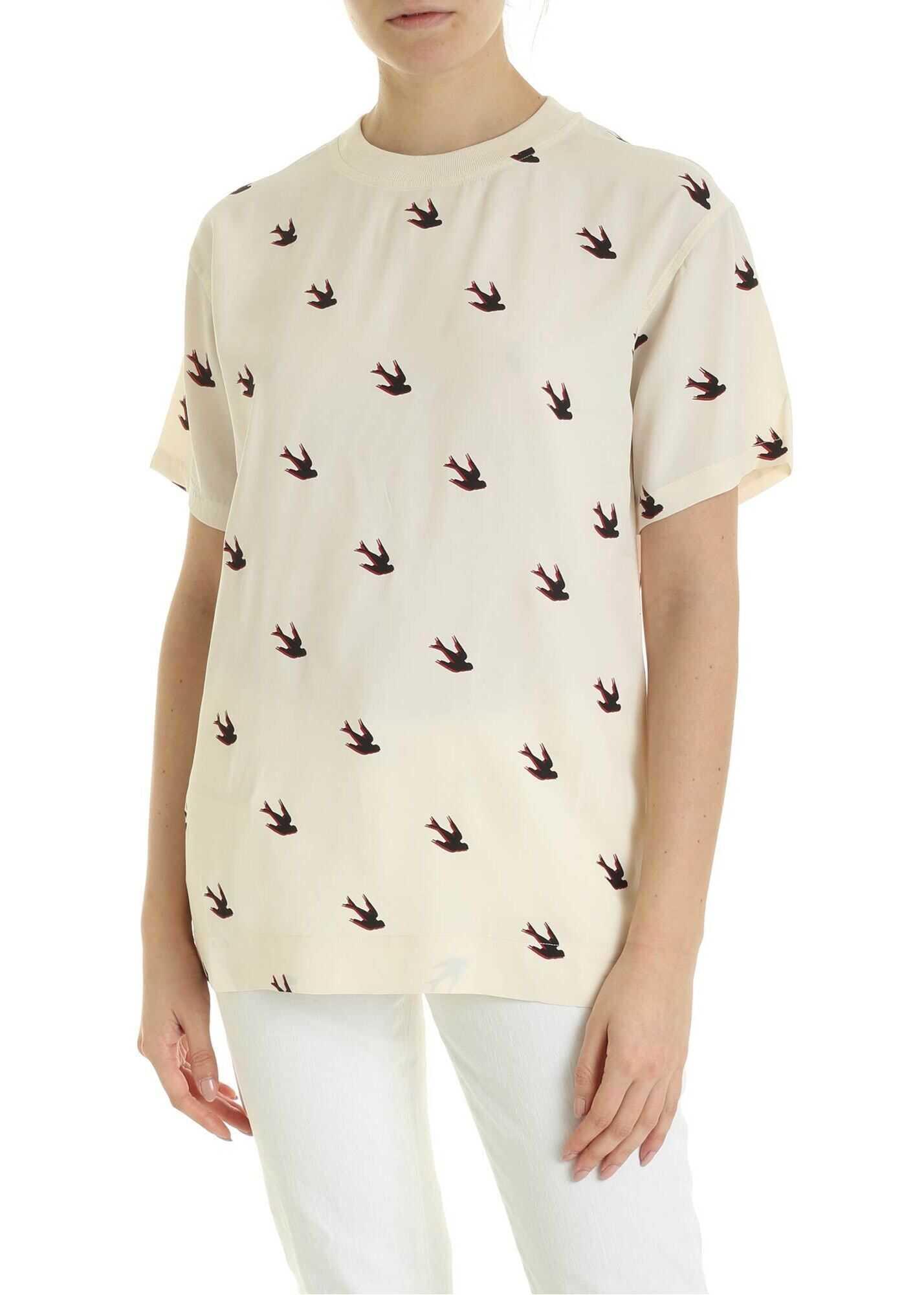 MCQ Alexander McQueen Umeko T-Shirt In Cream Color Cream