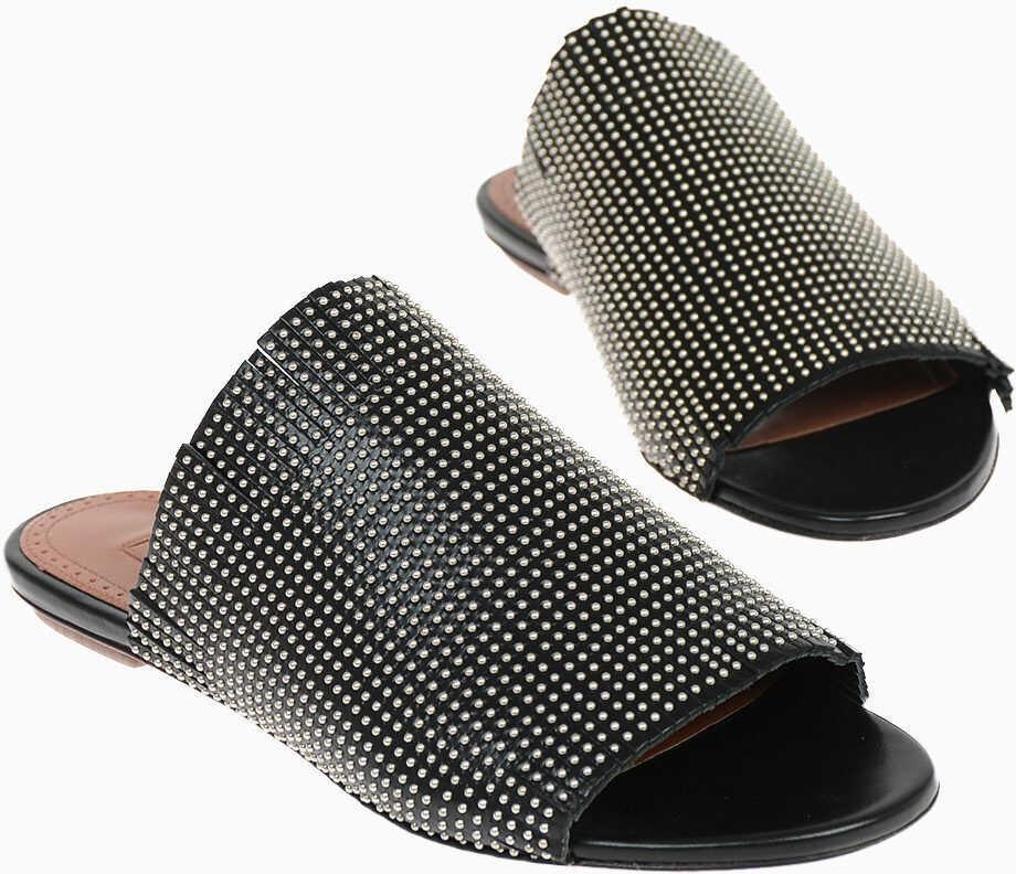 Alaïa Studded Leather Slippers BLACK