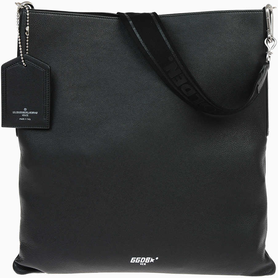 Golden Goose Leather THE CARRY OVER Hobo Bag BLACK