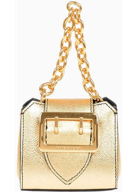 Burberry Leather BUCKLE TOTE Charm Micro Bag GOLD