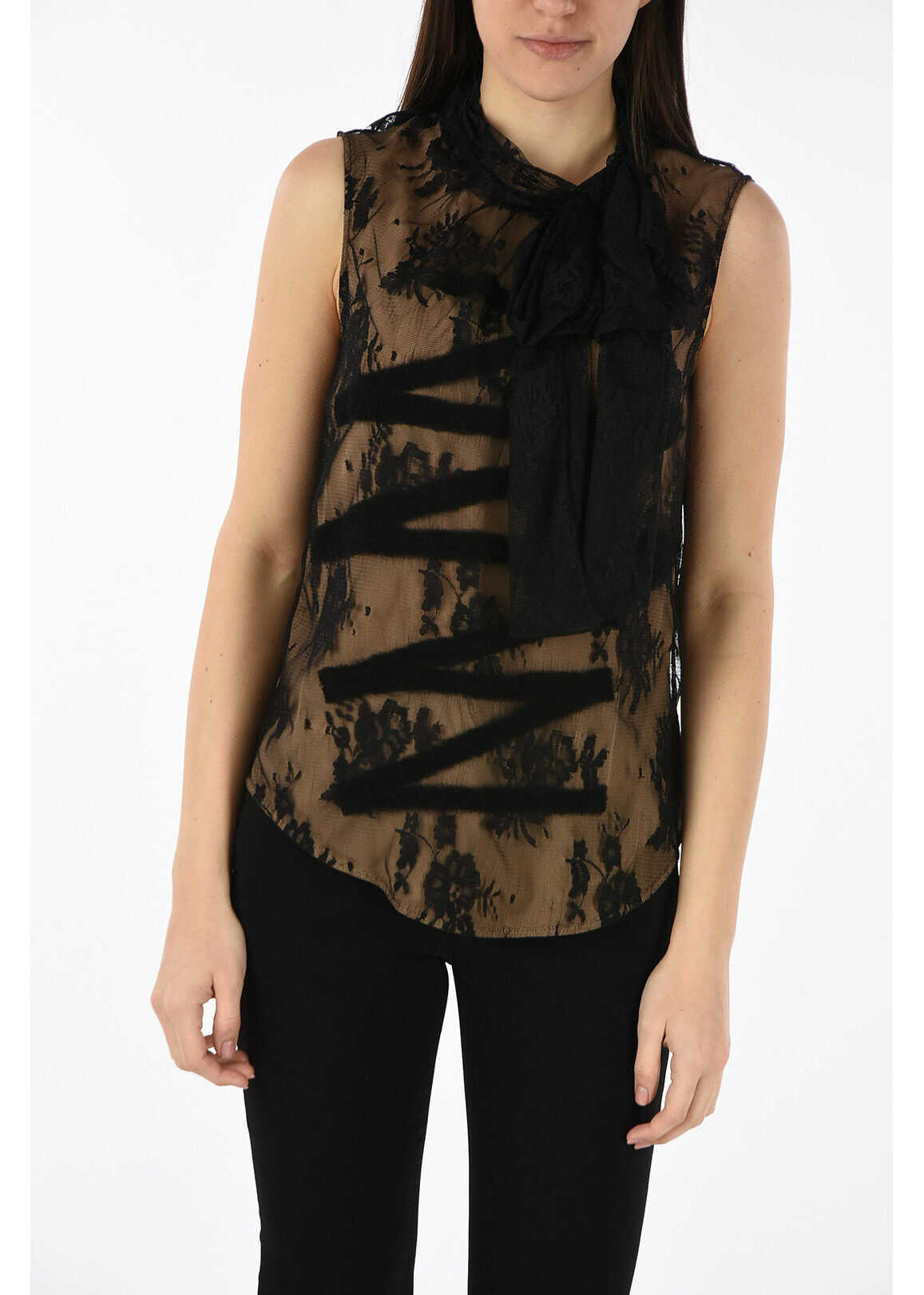 Moschino COUTURE! lace top BLACK