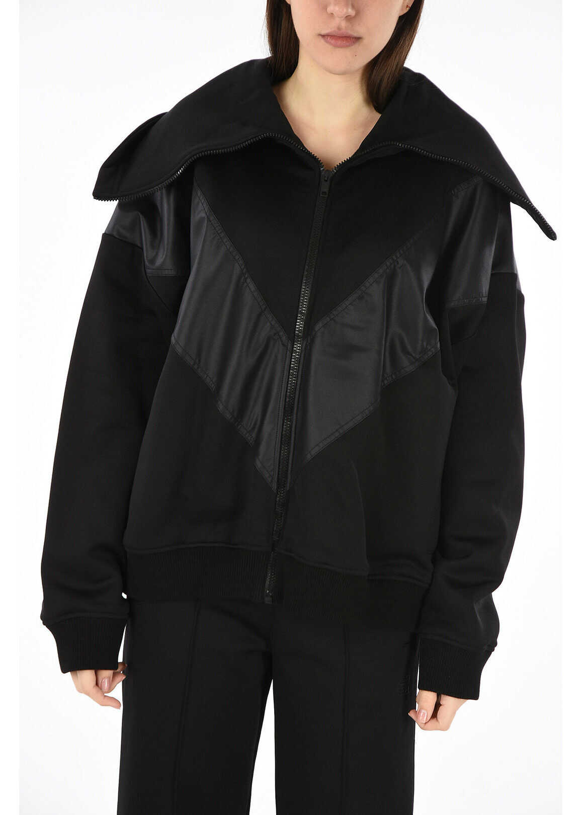 Givenchy full zip outerwear BLACK