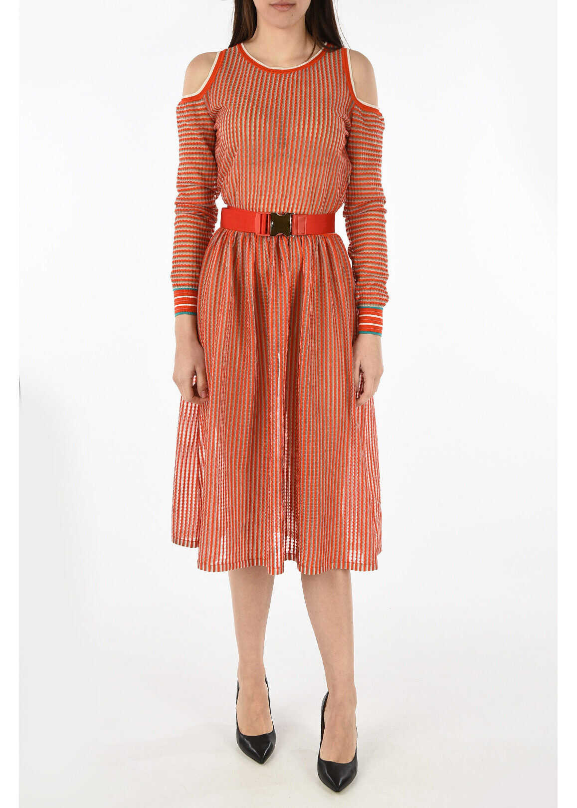 Fendi mini check a-line BAHAMAS dress ORANGE