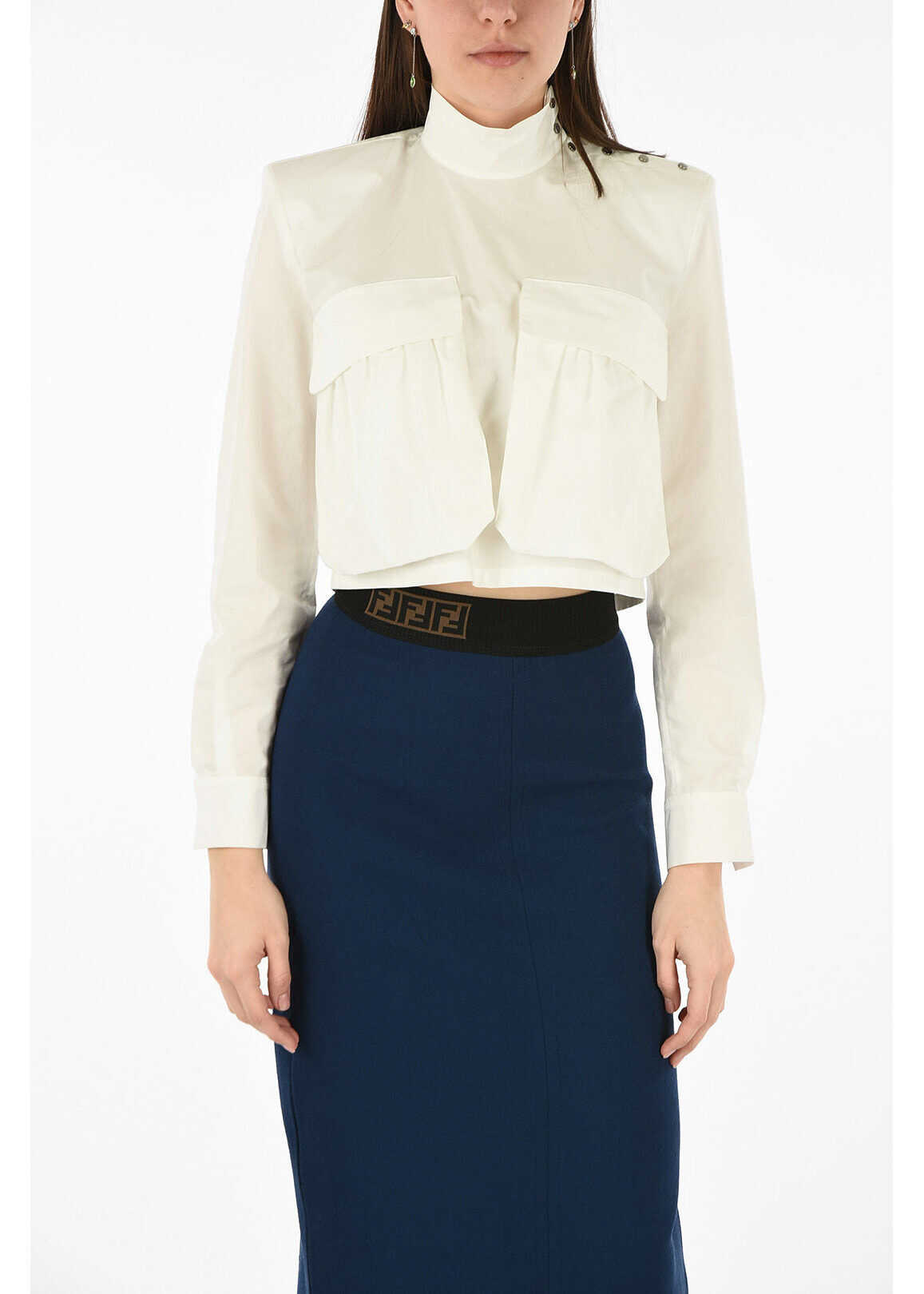 Fendi cossack shirt WHITE