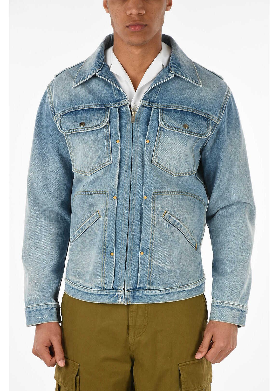 full zip denim LUCKY jacket thumbnail