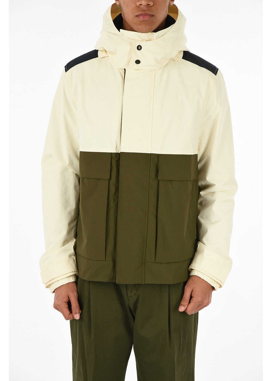 Woolrich hooded outerwear WHITE