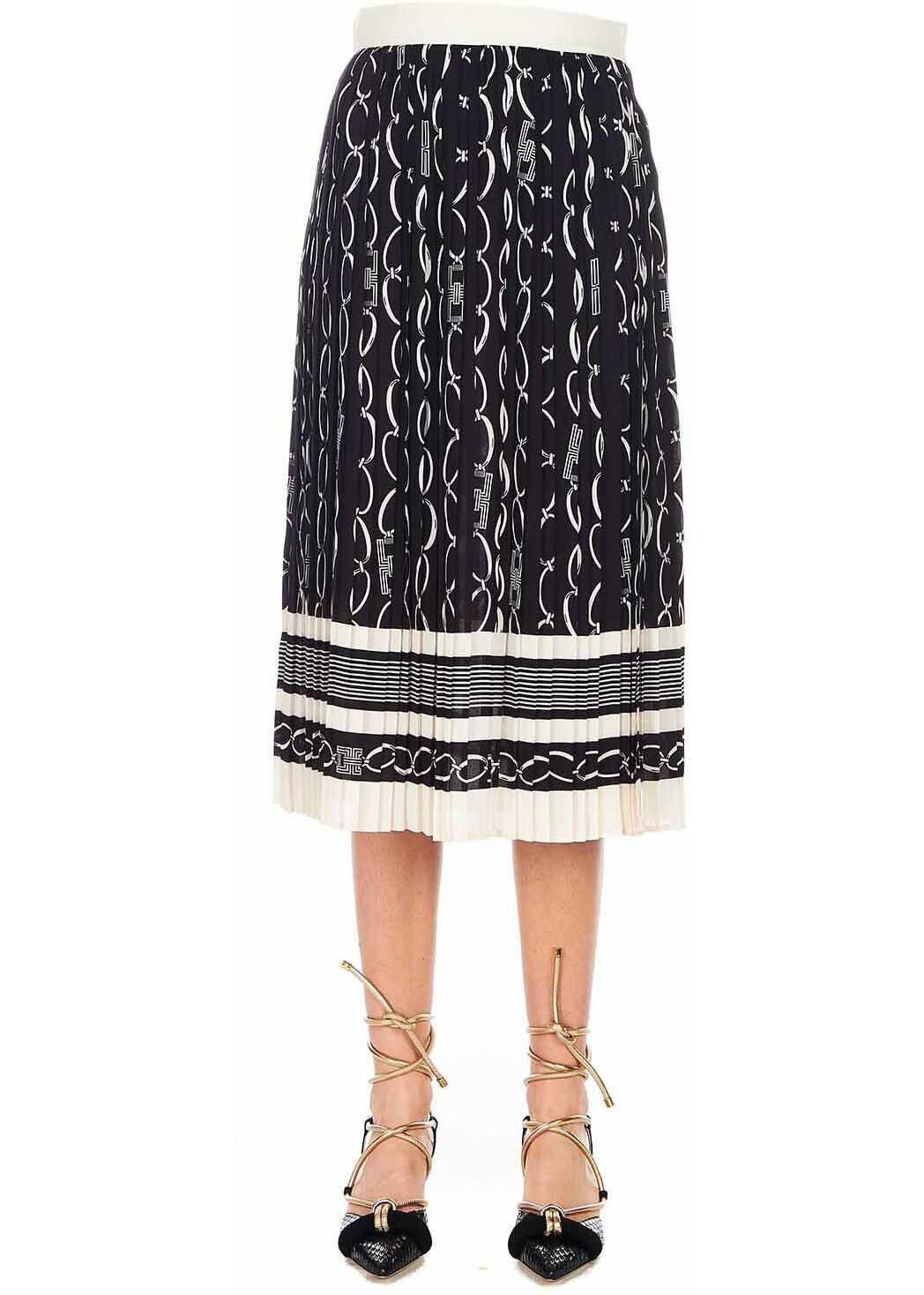 Elisabetta Franchi Midi accordion skirt