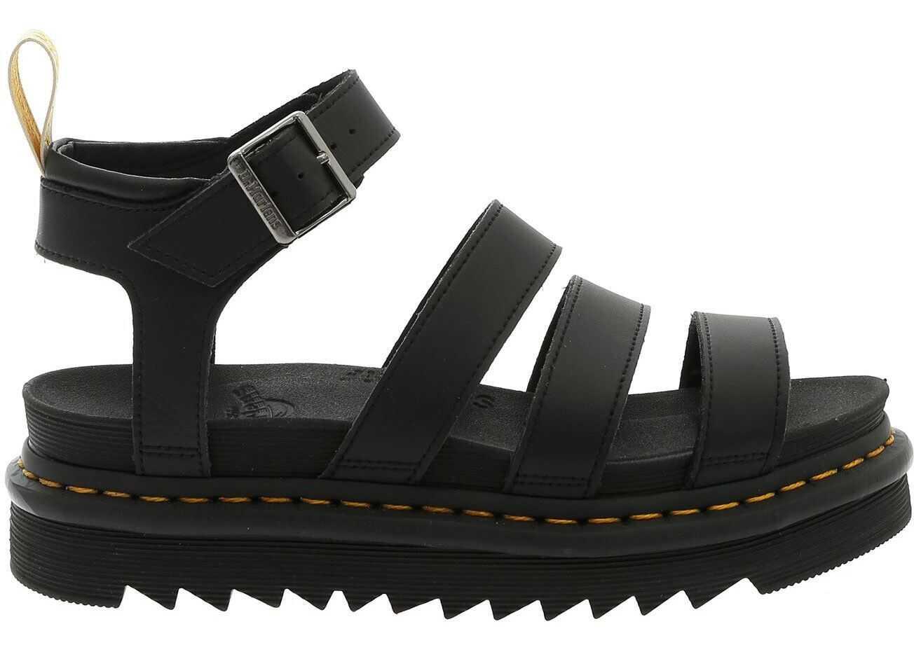 Dr. Martens V Blaire Sandals In Black Black