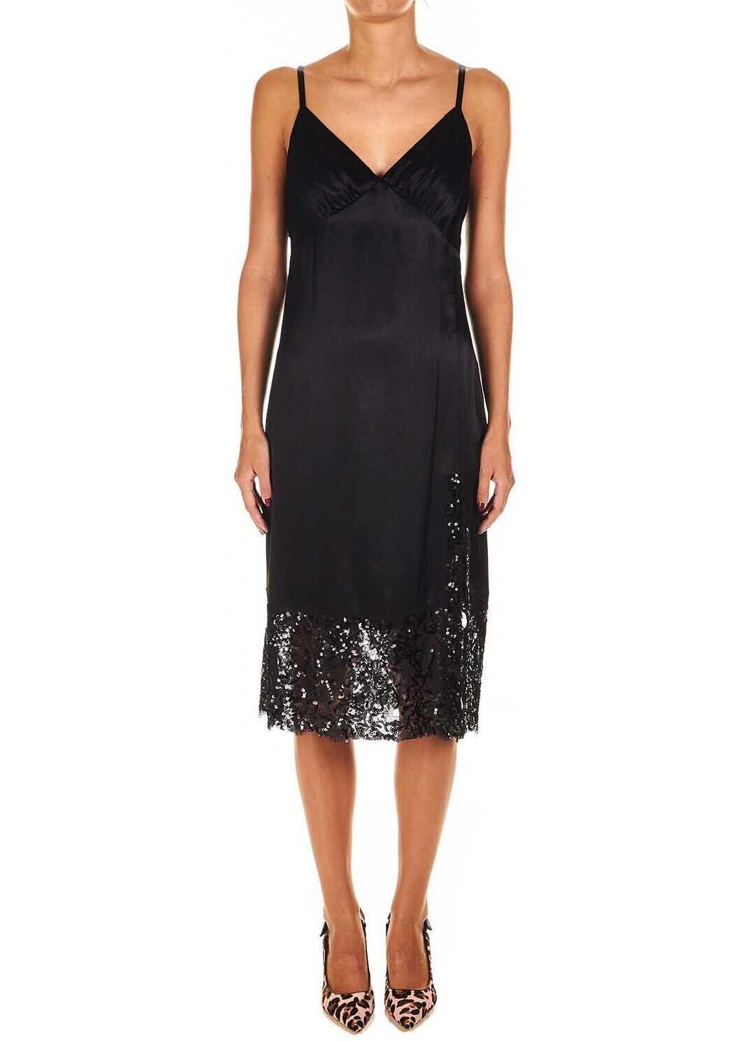 Michael Kors Satin slip dress Black