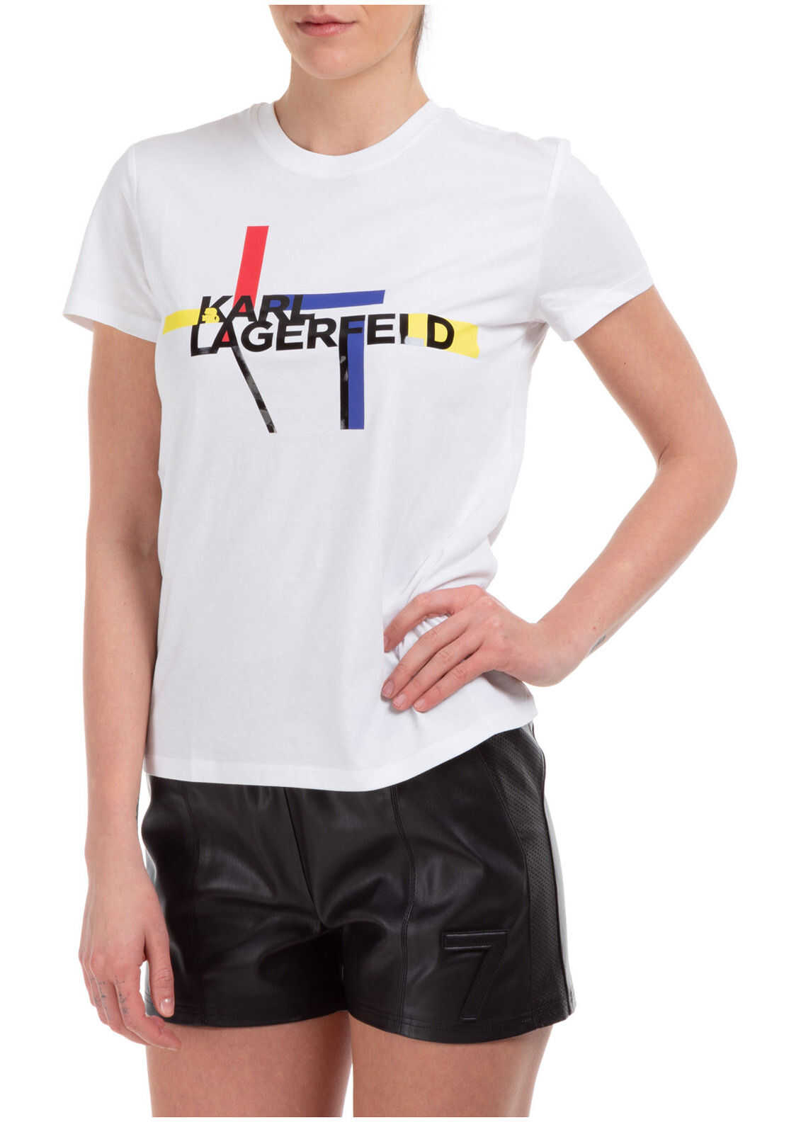 Karl Lagerfeld Round Bauhaus White