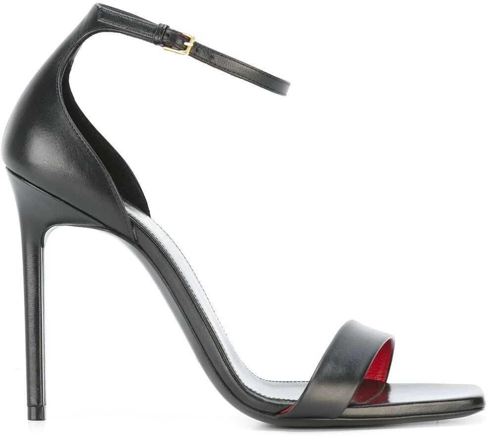 Saint Laurent Leather Sandals BLACK