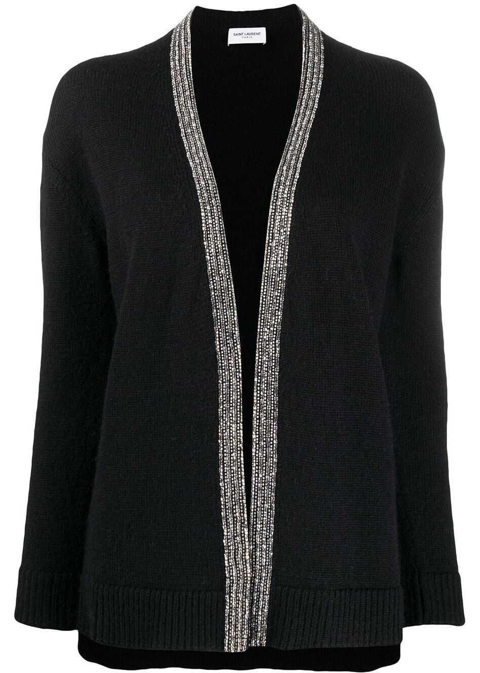 Saint Laurent Wool Cardigan BLACK