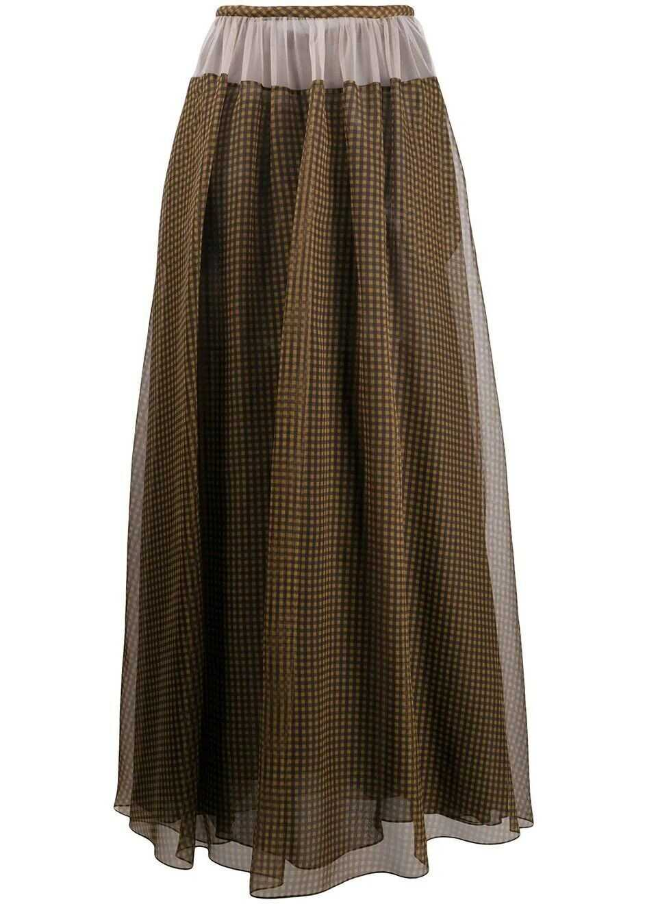 Fendi Silk Skirt BROWN