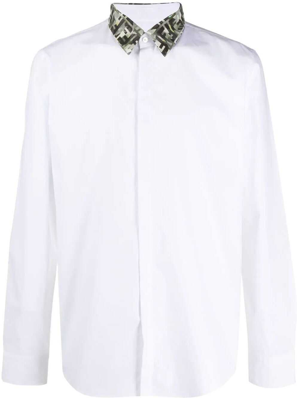 Fendi Cotton Shirt WHITE