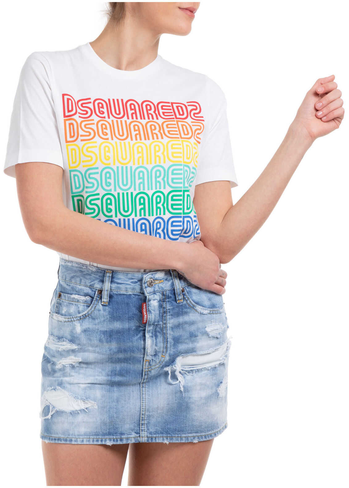 DSQUARED2 Rainbow Twins White