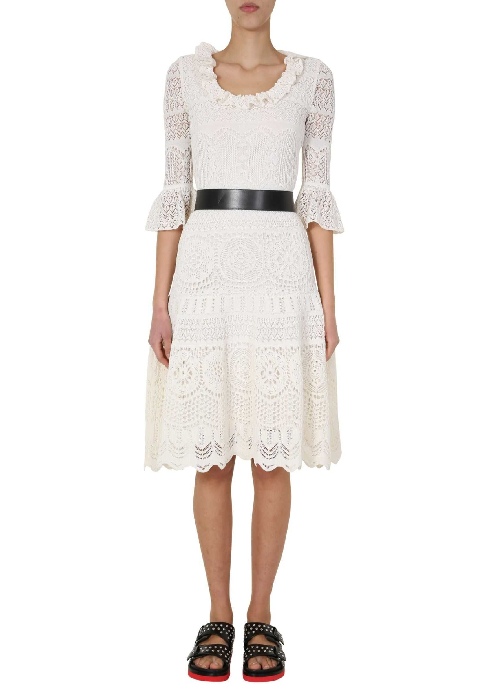 Alexander McQueen Knitted Dress WHITE